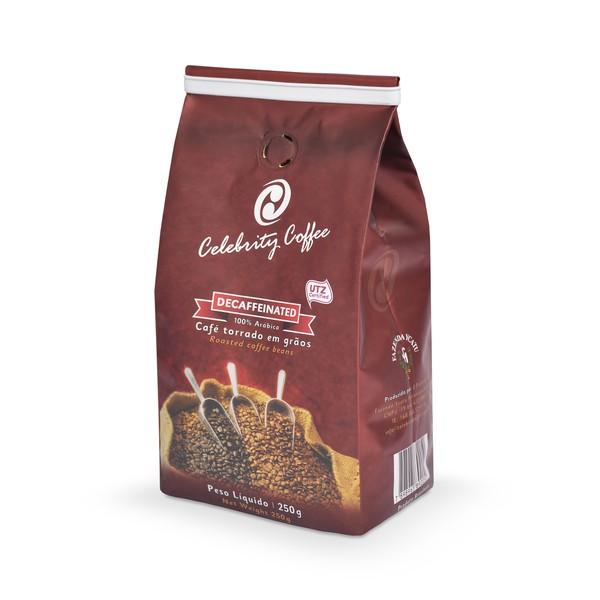Café Celebrity Coffee - Torrado em grãos - Decaffeinated - 250g