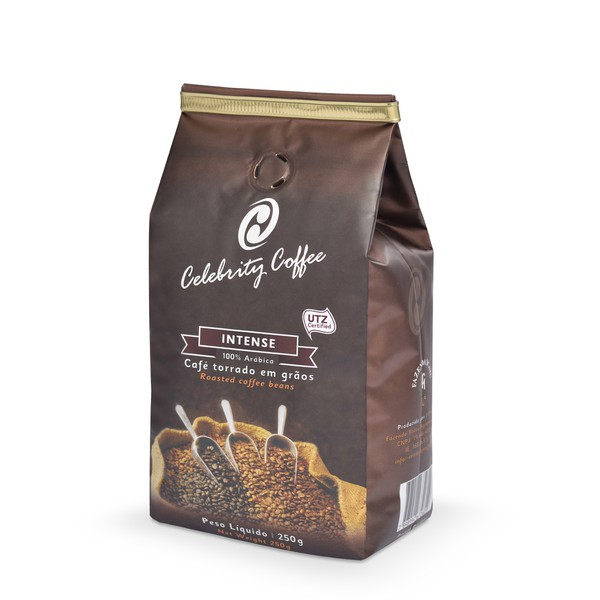 Café Celebrity Coffee - Torrado em grãos - Intense - 250g