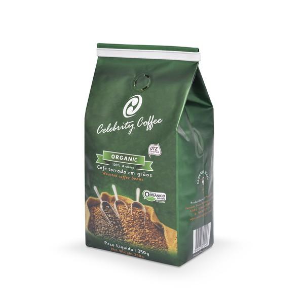 Café Celebrity Coffee - Torrado em grãos - Organic - 250g