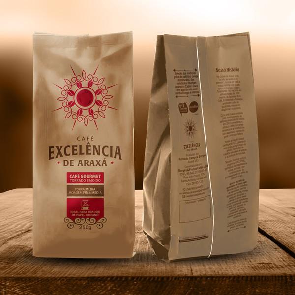 Café Excelência - de Araxá - Café Gourmet torrado e moído 250g