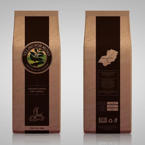 Café Velho Formoso - Torrado em Grãos - 1Kg