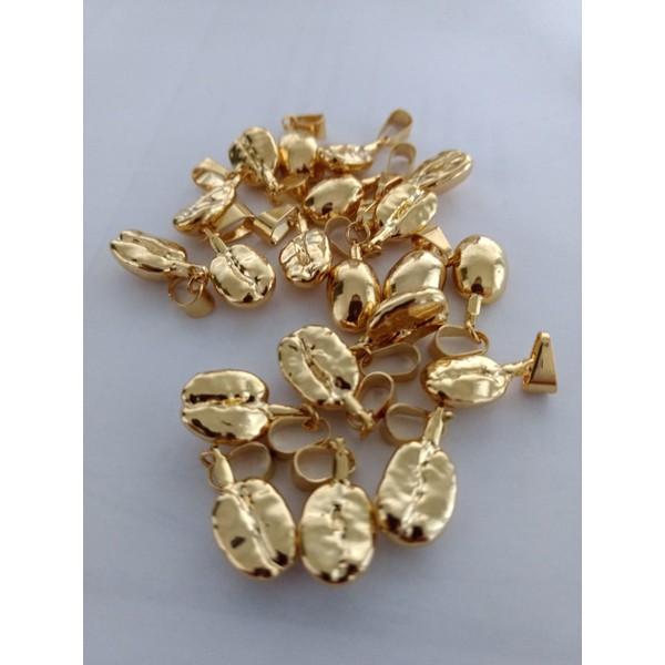 Pergaminho de Ouro - Grão de Café com pergaminho em Ouro 18 k