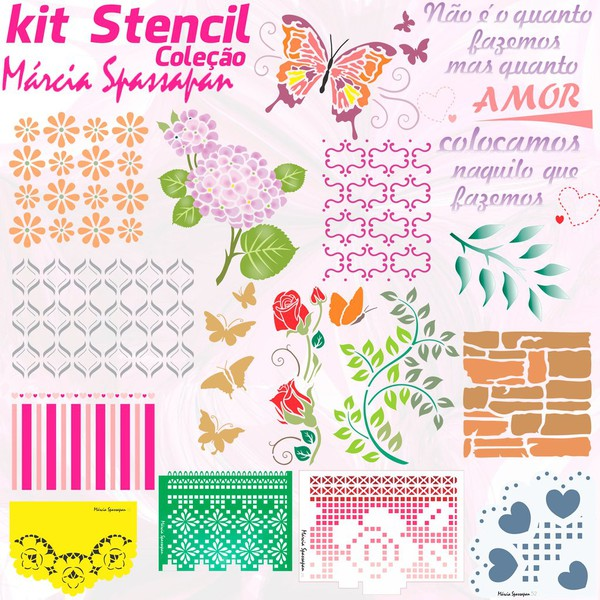 Kit Stencil Coleção Márcia Spassapan | Edição 1