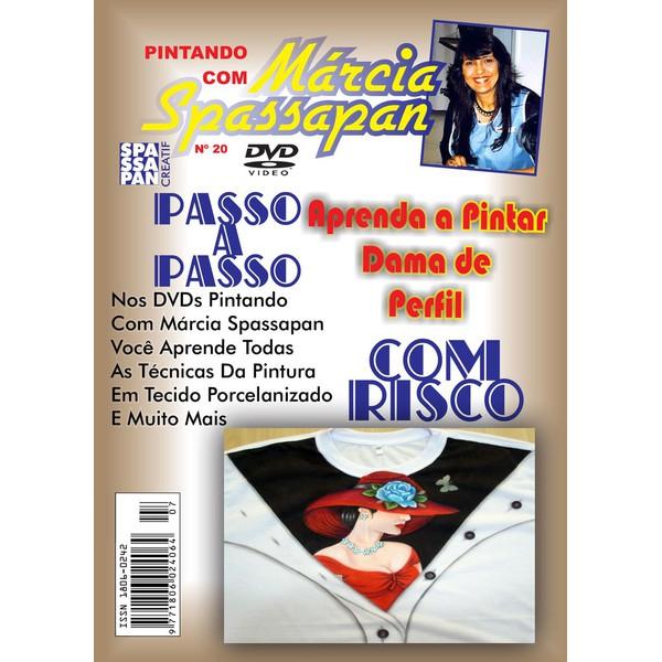 DVD Pintando Com Marcia Spassapan Edição Nº20 - Dama de Perfil + Projeto