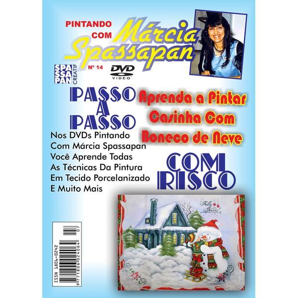 DVD Pintando Com Marcia Spassapan Edição Nº14 - Casinha Com Boneco de Neve + Projeto