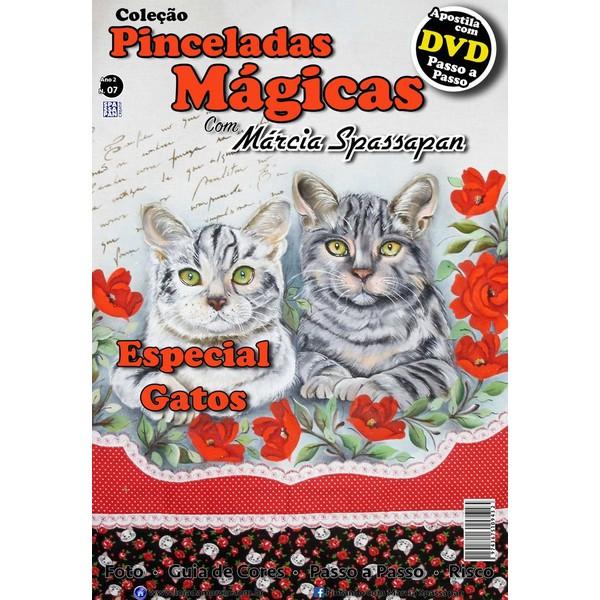 DVD Coleção Pinceladas Mágicas Edição 7 Gatos com Apostila