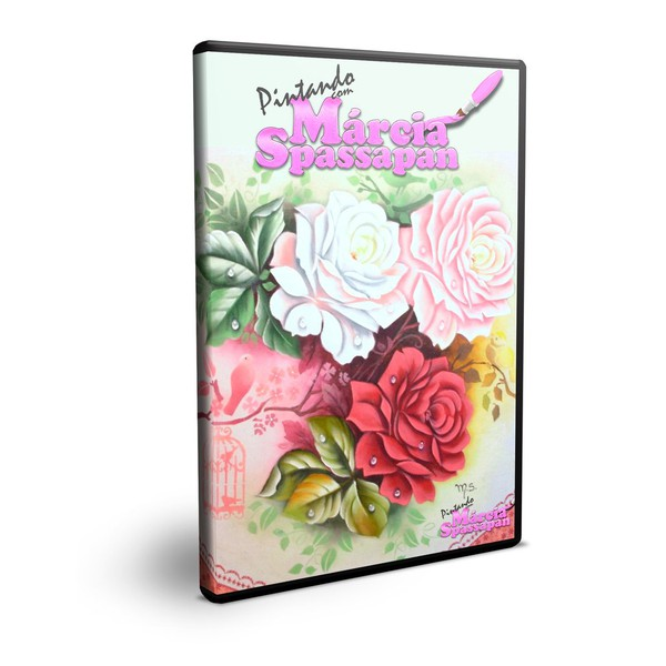DVD Pintura em Tecido Márcia Spassapan Rosas com Pássaros