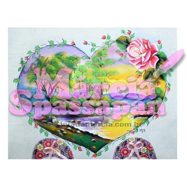 Projeto para Pintura com Foto e Risco Paisagem com Rosa Ed.12