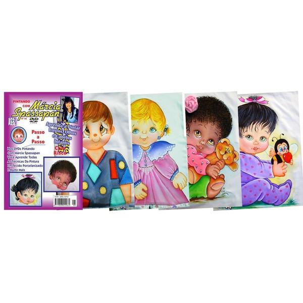 DVD Pintando Rostos Infantis + As 4 Fotos e Riscos