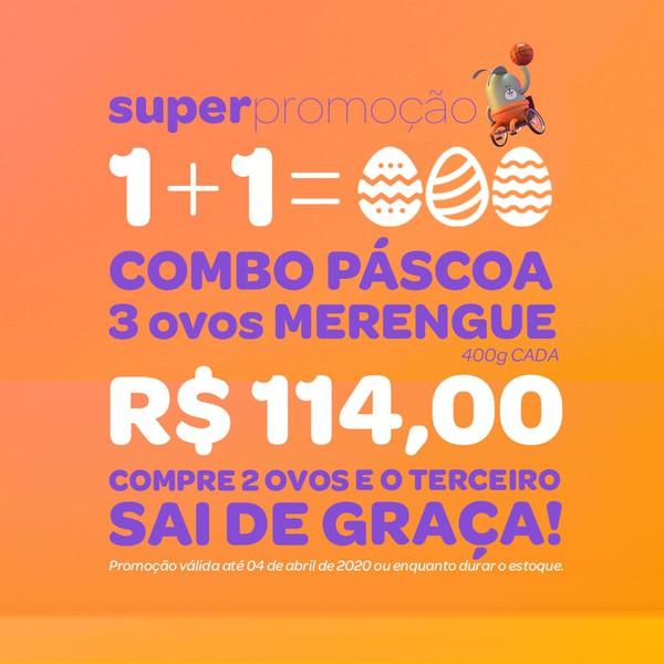 COMBO - Ovos Merengue - 400g cada - Pague 2 leve 3