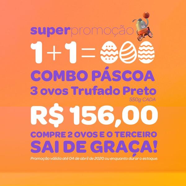 COMBO - Ovos Trufado Preto - 550g cada - Pague 2 leve 3