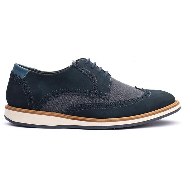Sapato Casual Masculino Stone Francajel Royal em Couro