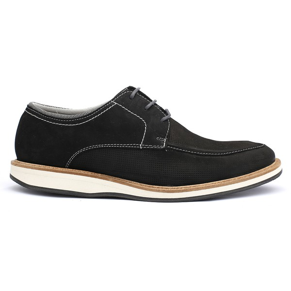 Sapato Casual Masculino Stone Francajel Preto em Couro