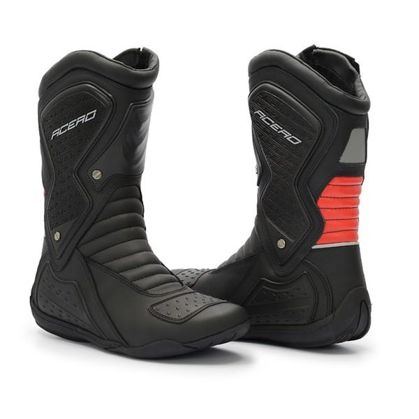 Coturno Motociclista em Couro Gogowear Speed Low Vermelha