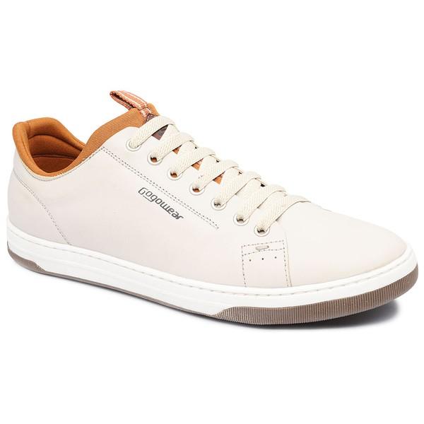 Sapatênis Masculino em Couro Gogowear Benci Off-White
