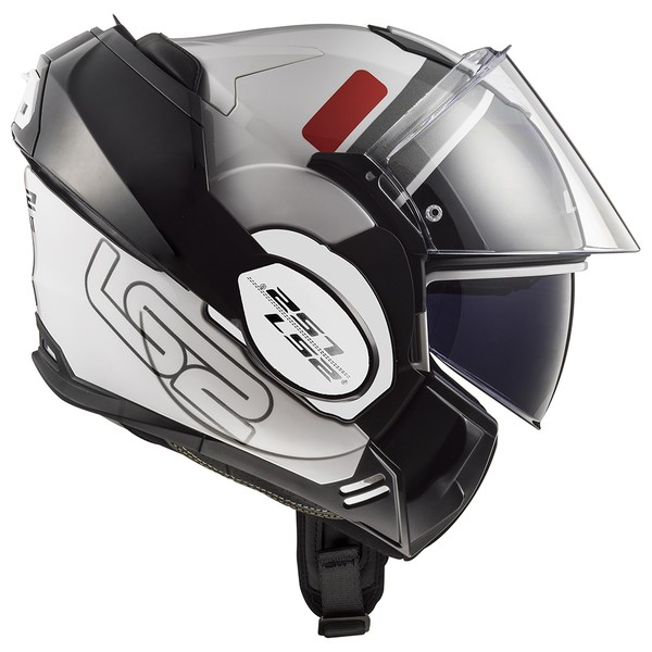 CAPACETE LS2 VALIANT PROX WHITE/RED/BLACK
