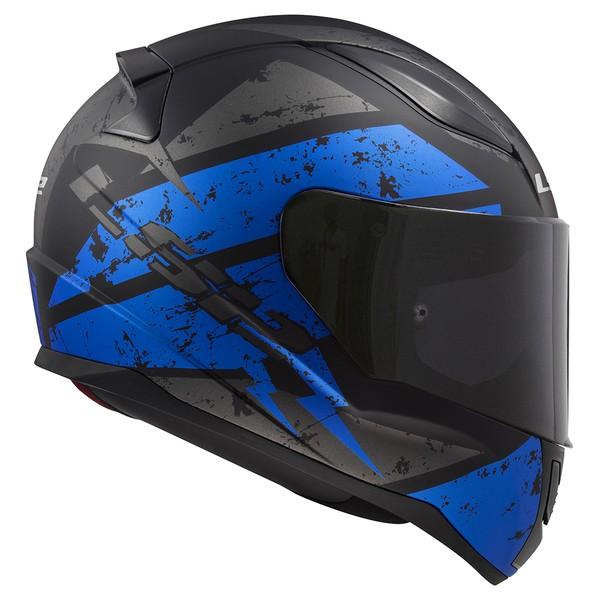 CAPACETE LS2 RAPID DEADBOLT MATTE BLACK/BLUE
