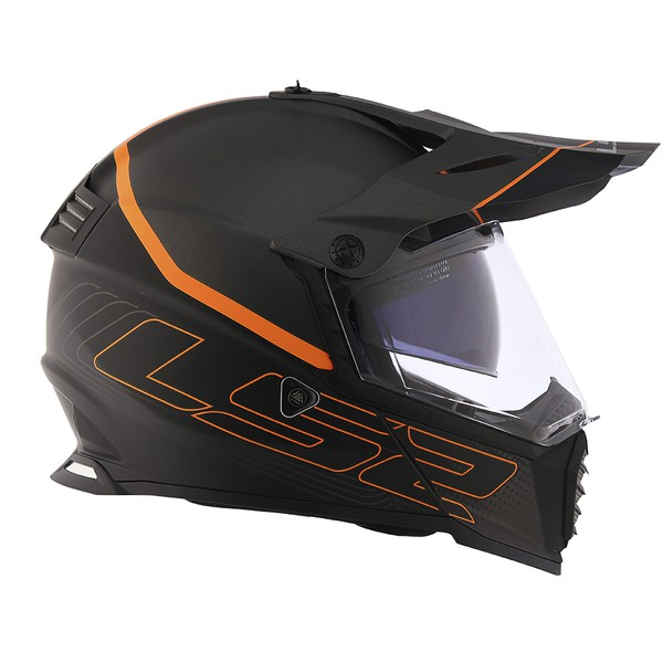 CAPACETE LS2 PIONNER EVO ELEMENT MATTE BLK/TIT/ORANGE