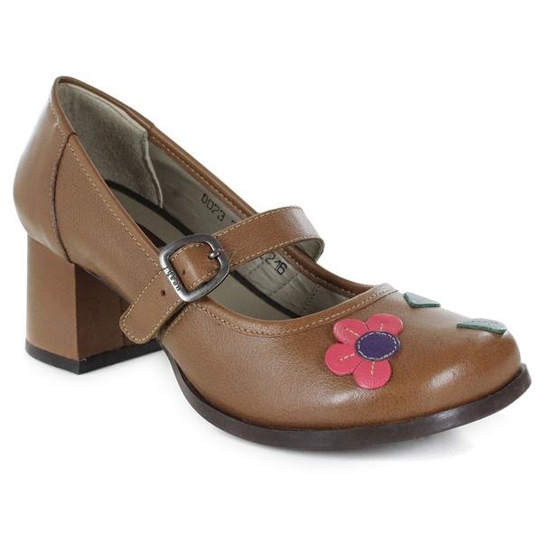 Sapato Em Couro Marrone J.Gean Outlet