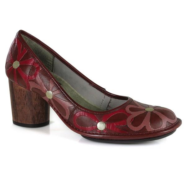 Sapato Em Couro Vermelho AG0046 J.Gean