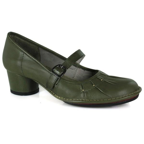 Sapato Em Couro Lolla Baixo Oliva J.Gean