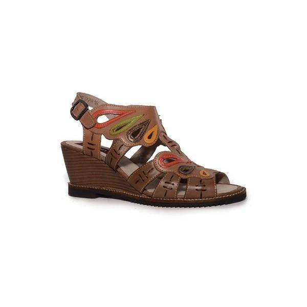 Sandália Em Couro Susan Anabela Suede J.Gean