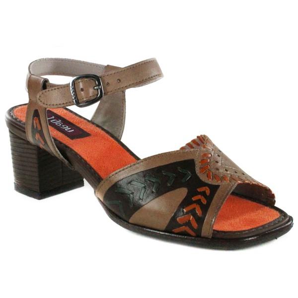 Sandália Em Couro Taupe BP0086 J.Gean