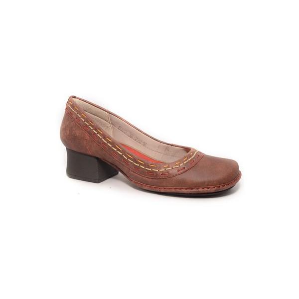 Sapato Em Couro vermelho CK0022 J.Gean