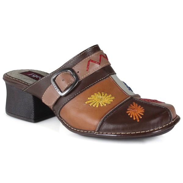 Sapato Em Couro Coffee CK0062 J.Gean