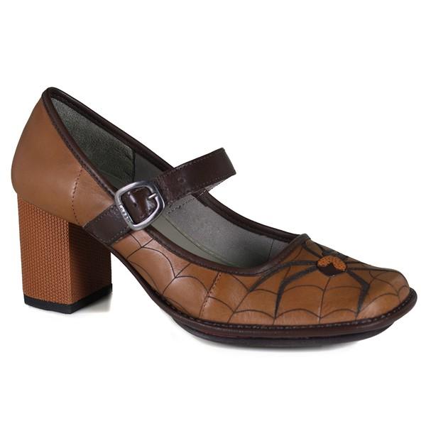 Sapato Galeany Alto em couro Tamara J.Gean