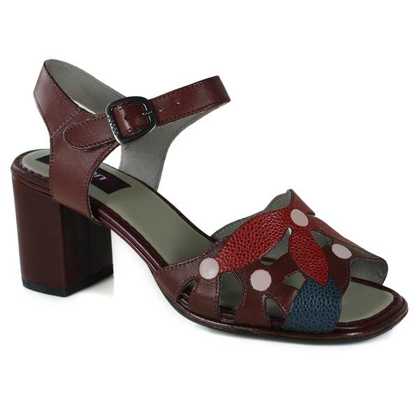 Sandália em couro Vermelho BP0090 J.Gean