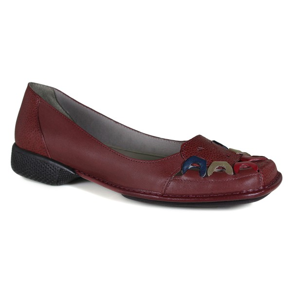 Sapatilha em couro Mariah Vermelha J.Gean