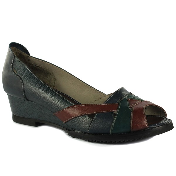 Sandália em Couro Susan Navy J.Gean DF0012