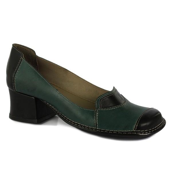 Sapato New Kelly Em Couro Esmeralda J.Gean