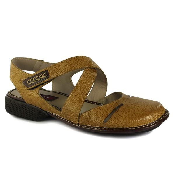 Sapatilha Em Couro New Exclusiva Amarela J.Gean