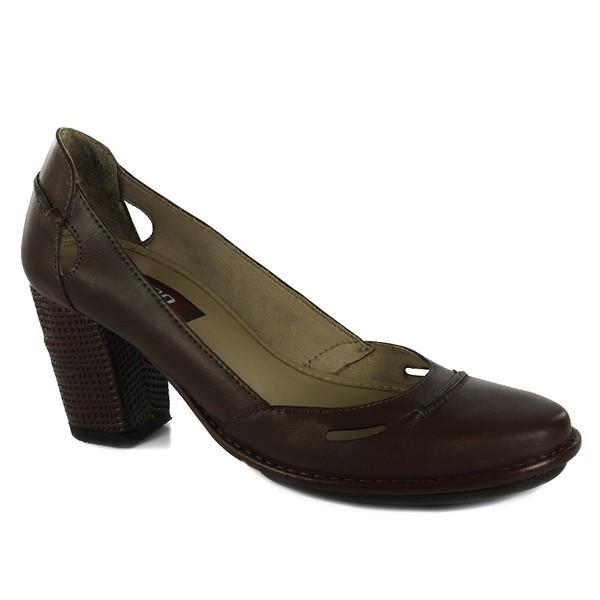 Sapato Ibizza Em Couro Coffee J.Gean