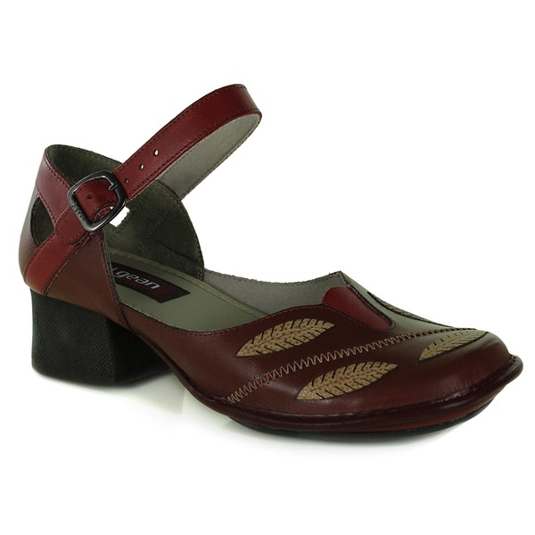 Sapato New Kelly Vermelho Em Couro J.Gean