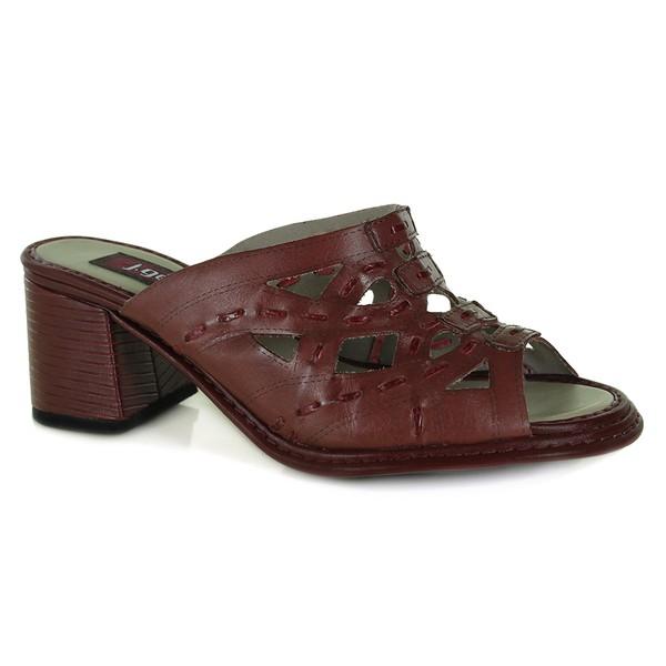 Sandália Lolly B Vermelha Em Couro J.Gean
