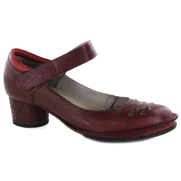 Sapato Lolla Baixo em couro Vermelho J.Gean