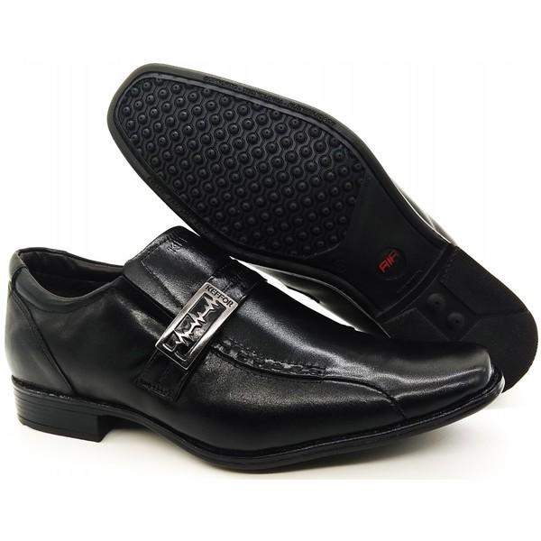 Calçado Sapato Social Em Couro Kéffor Preto Linha Berlim