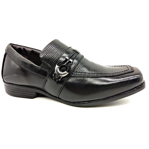 Calçado Infantil Sapato Social Em Couro Preto Kéffor Linha Óries
