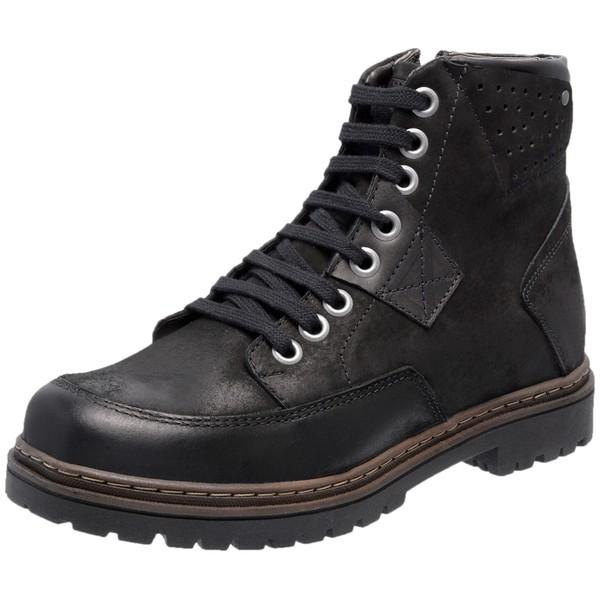 Bota Coturno em Couro Mega Boots Preto