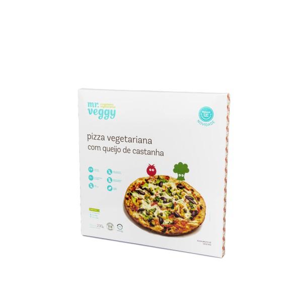 Pizza Vegetariana com queijo de castanha