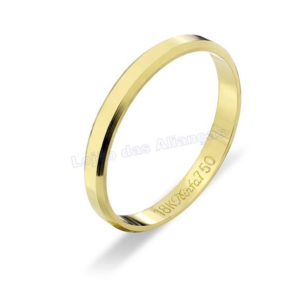 Aliança em Ouro Amarelo 18K 750