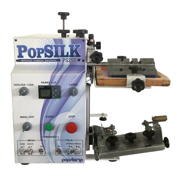 Máquina PopSilk - Serigráfica Cilíndrica - Sem Compressor