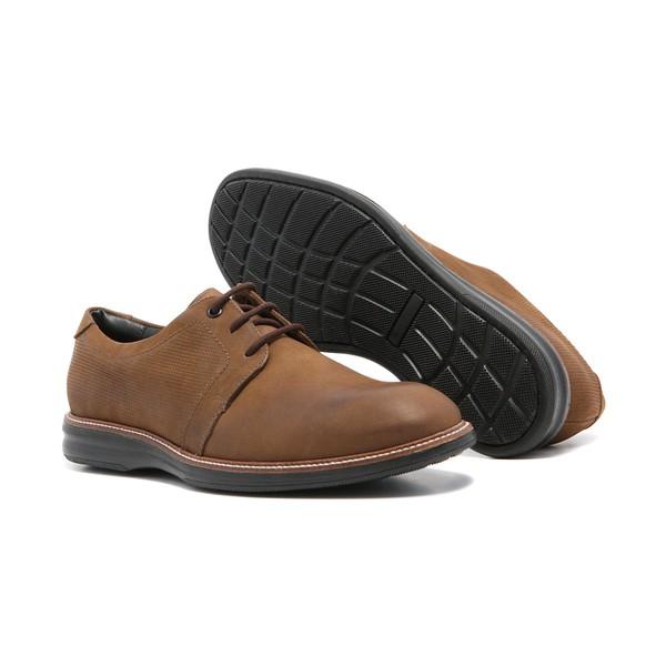 Sapato Masculino Quebec Marrocos Caqui Couro