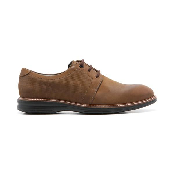 Sapato Masculino Quebec Marrocos Caqui em Couro