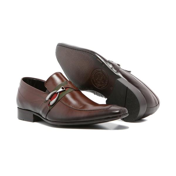 Sapato Social Masculino Quebec Couro Mouro