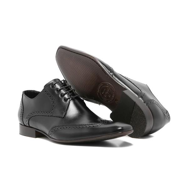 Sapato Social Masculino Oxford Classic Quebec Couro Preto