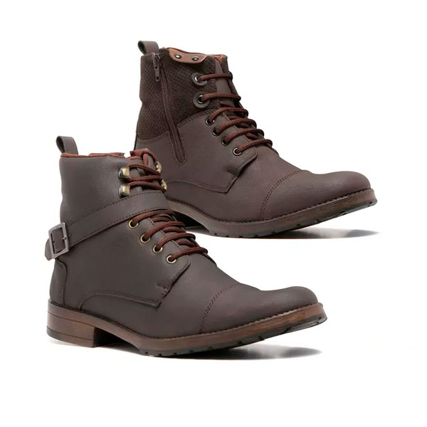 KIT 2 PARES BOTA MASCULINA QUEBEC SKY CHOCOLATE/CAFÉ